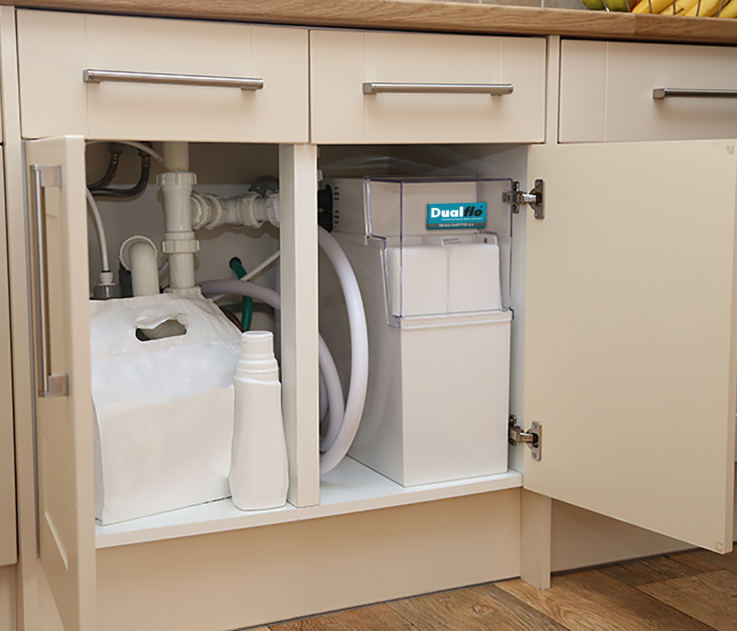 Dualflo Softener in Cabinet